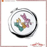 wholesale Round shape sublimation make-up mirror,Sublimation supplies,DIY cosmetic mirror