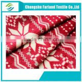 white snow print flannel fleece fabric for warm thick blanket,Winter indoor cotton slippers