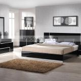 China manufacturer Modern Home hotel Furniture black High Gloss Bedroom Sets(SZ-BFA8005)