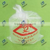 Biohazard Waste Bag Clear color HDPE disposable Autoclavable waste bag