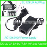 Led Transformer AC To DC12V 1A 2A 3A 5A 6A 8A 10A Power Supply Converter Adapter EU US AU UK plug adapter for Led Light Strip