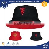 Alibaba reversible 2d embroidery occer bucket hat