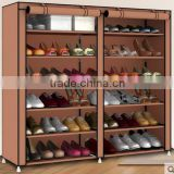 Double row heated homemade plastic shoe rack with cover                                                                         Quality Choice
