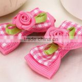 fancy flower hair bow alligator hair clip barrettes kids hair accessory