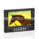 1080p 7 inch IPS screen camera monitor with hdmi YPbPr composite video