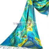 modal printed scarf high quality photo print scarf