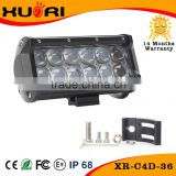 Professional manufacturer 36w high power light bar 7inch led spot light bar atv body parts bar tops