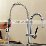 Two heads chrom spring kitchen faucet mixer