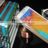 Top quality Wholesales colorful flexible clip button case metal aluminum bumper for galaxy note 3