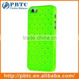 Set Screen Protector Stylus And Case For Iphone 5 , Hard Plastic Green Bling Diamond Mobile Phone Protective Shell