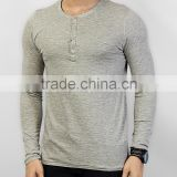 longline button up t-shirts/ curved loose fit t-shirt/longline curved loose fit men's t-shirts