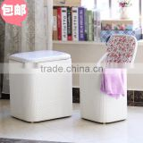 The latest PU large capacity storage stool wooden stool children toy shoes stool sitting bo finishing