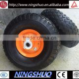 China industry of small rubber pneumatic wheelbarrow wheel 3.50-4