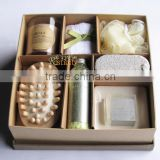 SPA/Bath Set With Candle /High-End Shower Gift Set with wood massager