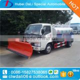 Multifunction dongfeng snow removal vehicles+road sweeper+water sprayer 4*2 snow sweeper for sale