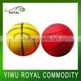 Custom Colorful Soft Foam Basketball PU Anti Stress Ball