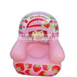 pink holiday inflatable sofa chair for girl plastic inflatable chair