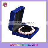 Wholesale Velvet Bangle Gift Box /Custom Blue Single Jewelry Bangle Packaging Box For Lady(WH-2065-L)