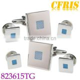 Wholesale enamel cufflink and studs set