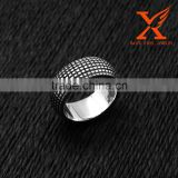 In Stock Wholesale Hollywood Star 2016 Men Trendy Cool Stainless Steel Vintage Tire Rectangle Pattern Band Smart Ring 10mm