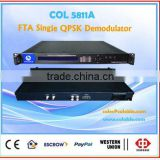Free to Air demodulator, Single DVB-S FTA QPSK demodulator digital satellite receiver decoder COL5811A