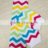 Rainbow Chevron Newest Fashion Wholesale Baby Legs Leg Warmers for Infant Toddler in Stock