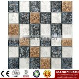 IMARK Gold & Silver & Gray Gold Back Foil Glass Mosaic Tile For Homedepot IXGR8-011