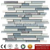 IMARK Mixed Color Crystal Glass Mosaic Tiles Mix Marble Mosaic Tiles for Wall Decoration Code IXGM8-107