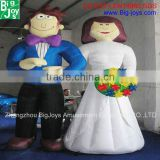 inflatable cartoon for wedding,advertising,inflatable moving cartoon,custom cartoon character