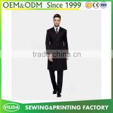 Custom made men's slim fit suit men's new design black color blazers long suit