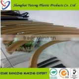 China manufacture chair edge banding T profiles,furniture embossed pvc profile edge banding ,table corner pvc profiles