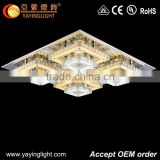 2015 new flat glass ceiling lights modern crystal lighting home lamp,Square flat crystal lamp