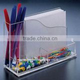 Acrylic Memo Pen Holder with Paper