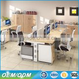 Office partition workstation staff desk with mobile drawers