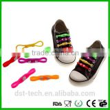 2016 Reflective Silicone No Tie Locking Elastic Lock Lace Shoelace