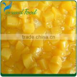 yellow peach diced in can