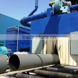 Steel pipe internal and external shot blasting cleaning machine by Qingdao Henglin Machinery