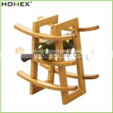 Bamboo countertop wine display holder Homex-BSCI
