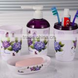 bathroom four set series/plastic toothbrush holders sets /Bath bottles toothbrush cup soap box