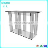China supply elegant clear acrylic office table acrylic dining table acrylic table with 6 legs