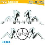 car accessories girls new car beauty product custom metal car decal sticker