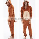 Cheap winter adult animal jumpsuit pajama