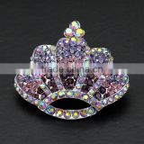 2016 vintage crown brooch pins fashion crown rhinestone brooches custom diy crown brooch pins for princess