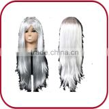 White cosplay funny fake synthetic hair wig PGW-1145