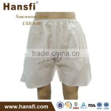 white non-woven shorts for men
