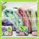 cotton and bamboo Waffle Jacquard Face Towel