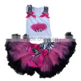 2016 yawoo wholesale cupcake design tank top tutu pettiskirt girls baby birthday knee length party dance outfits performance set