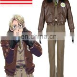 Rose team-Axis Powers Hetalia United States of America Alfred F. Jones Uniform Anime Sexy Halloween Carnival Costume