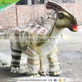 KAWAH Amusement Park Rides Life Size Animatronic Walking Dinosaur Ride For Sale