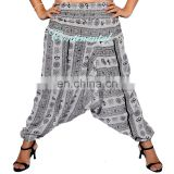 White Harem Om Trouser Pantt Yoga Boho Hippie Indian Women AliBaba Baggy Gypsy Gypsy Hippie Baggy Pants Afghani Unisex wholesale
